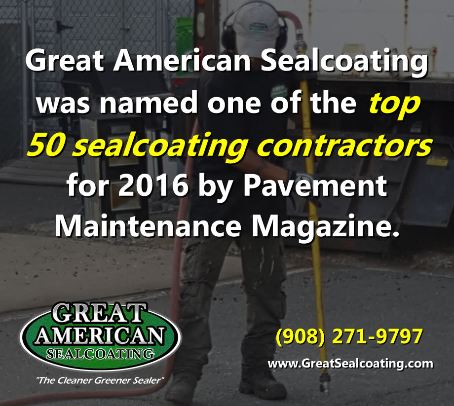Great American Sealcoating was named one of the top 50 sealcoating contractors